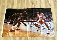 The Cross Over 3ftx5ft flag banner Michael Jordan Allen Iverson limited edition