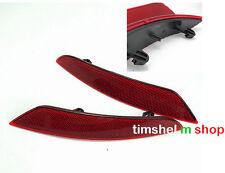 2x OEM Dark Red Rear Bumper Reflector Lamps Pair LH & RH Fit For VW Golf MK6 MKV
