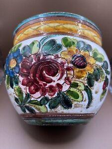 Vintage Italian Ceramic Art Pottery Planter Vase Flower Pot 5 Inches tall