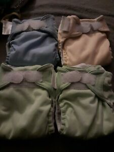 Bum genius Cloth Reusable nappies x 4. All in good pre loved cond