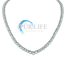 Authentic Pur life Negative Ion Bracelet SWAROVSKI NECKLACE CLEAR PURLIFE WOW!!
