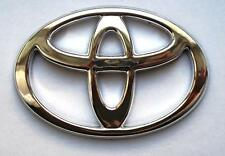 New Aygo yaris auris PRIUS Badge emblem logo CHROME FRONT BOOT 120mm x 82mm