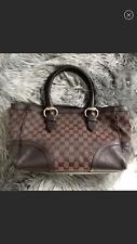 AUTHENTIC GUCCI !! Monogram Brown Handbag Tote GG logo