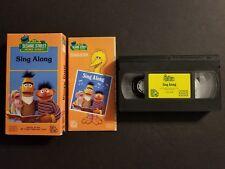 Sesame Street - Sing Along w/ Songbook (VHS, 1986) Bert & Ernie Big Bird RARE