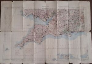A GENUINE ORDNANCE SURVEY RAF WW2 (WAR) MAP: SOUTH WEST ENGLAND FIFTH EDITION
