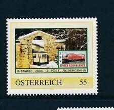 9.person.Marke des  BSV-Linzer Eisenbahn-Verein, 2.Pöstlingbergbahn, Zug, 1/5/15