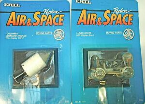 4 1990 Ertl Air and Space Diecast Friendship 7+Eagle + Lunar Rover Command Mod.