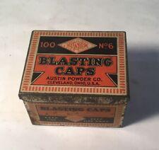 Mining - Austin Blasting Caps Tin No.6 - 100 Ct. - Nice