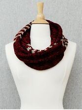 Burgundy and Gold Metallic Scarf