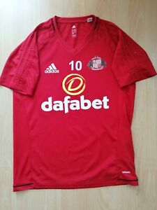 Sunderland #10 Player Issue Training Football Jersey M Medium Dafabet