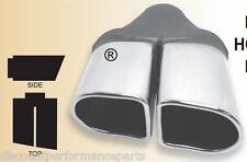 "Dual Double D Blue Diamond Chrome Exhaust Tip Holden Commodore 2.25"" Expandable"