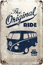 VW Bus T1 - Original Ride - Blechschild - 20x30cm - Neu & OVP