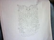 L'artigianato celtico ECO Tote bag a embroider naturale Calico 100% COTONE