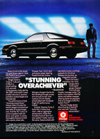 1985 Dodge Daytona - stunning black -  Classic Vintage Advertisement Ad A63-B