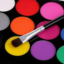 15 Colors Body Face Paints Stage Makeup w/ 2 Brushes Safe Non-toxic Easy Clean