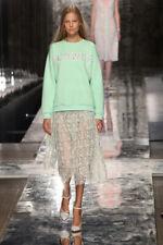 CHRISTOPHER KANE Mint Green Lace Silk PLASMA Pleated Runway Skirt UK 10 $2675
