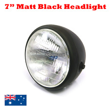 "Matt black billet 7"" headlight Harley chopper bobber cafe racer custom projects"