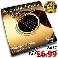 More details for acoustic guitar phosphor bronze strings set light 11-50 - 11s  pack adagio pro