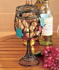Metal Wine Glass Cork Holder Grape Vine Theme Kitchen Dining Bar Party Decor