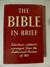 """THE BIBLE IN BRIEF"" JAMES REEVES FIRST EDITION 1954"
