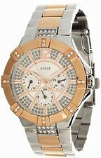 Guess Two-Tone Stainless Steel Chronograph Ladies Watch W0024L1