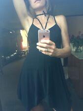 Marithe Francois Girbaud Asymmetric Jersey LBD Dress 38 New Sash