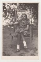 Cute Little Girl Unusual Weird Photo Style Kid Child Snapshot 1950s Vintage Old
