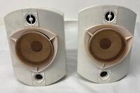 Pair Bowers & Wilkins B&W Rock Solid Sounds White Bookshelf Speakers 150W
