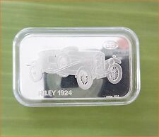 "RARE ! 1 oz .999 Switzerland Silver Bar""RILEY 1924 ANTIQUE CAR COLLECTION"" C75"
