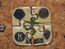 4 RARE PINS PIN'S PUZZLE virade de l'espoir 1991 morbihan