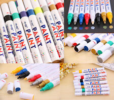 12 Color Waterproof Permanent Paint Marker Pen Car Tyre Tire Tread Rubber Metal