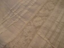 "Antique Vintage Petticoat Half Slip Pleats Lace Insert 35"" L Needs Sewing on Top"