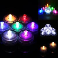 10Pcs Bright Submersible LED Floral Tea Light Vase Party Wedding Waterproof Best