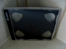 """Case: CD / DVD / Photo /  Games - 1 For 3 Discs  Clear With Black """"Split"""" Tray"""