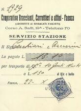 Cooperativa Braccianti Carrettieri e Affini Faenza 1923 Sindacati Fascisti