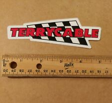 TERRYCABLE BMX Vinyl Decal Sticker Black/Red/White New!!