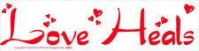 Love Heals - Magnetic Bumper Sticker / Decal Magnet