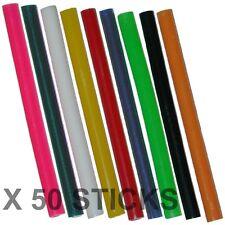 50 x 7mm Coloured Colour Hot Melt Glue Gun Sticks Adhesive for Hobby Craft Etc