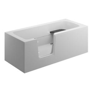 Badewanne für barrierefreies Bad mit Tür links, abnehmbarer Sitzbank VOVO 160 cm