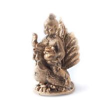 Guman Kuman Thong Magic Spirit Ride on Chicken Bronze Figurine Statue Amulet