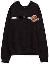 Santa Cruz Girls Other Dot Hoody Pullover Sweatshirt Small Black/Pink
