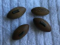 * Group of 4 Vintage Wood Figural Buttons FOOTBALL