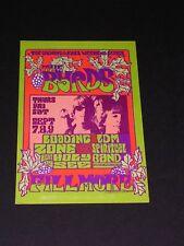 The Byrds Psychedelic Fillmore postcard handbill by Jim Blashfield Bg082