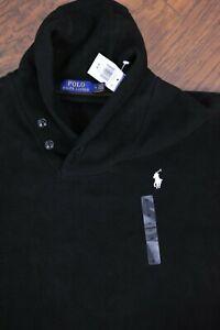 NWT Polo Ralph Lauren Shawl Neck Pullover Sweater Black Men's Medium M