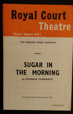 1959 ROYAL COURT THEATRE PROGRAMME + TICKET - SUGAR IN THE MORNING