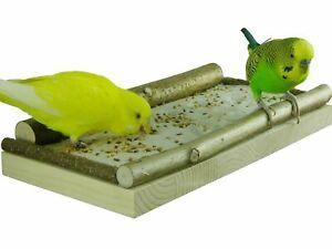 """Sitzbrett """"Mittel"""" für Vögel 26x13cm - Vogelsitzbrett für Sand und Futterkörner"""