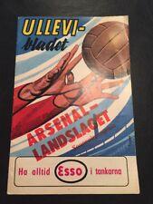 Sweden XI V Arsenal 18/05/1961 Friendly