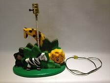 Wooden Jungle Animals Zoo Lamp Childrens Room/Nursery Table Lamp