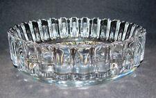 Kristallglas Schale gewellter Rand Art Glass Rand signiert