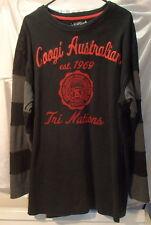 Coogi Australian Tri Nations Black/Red Liverpool Rugby Shirt Sweatshirt Mens XXL